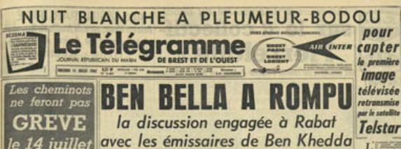 Une Télégramme 11 juillet 1962